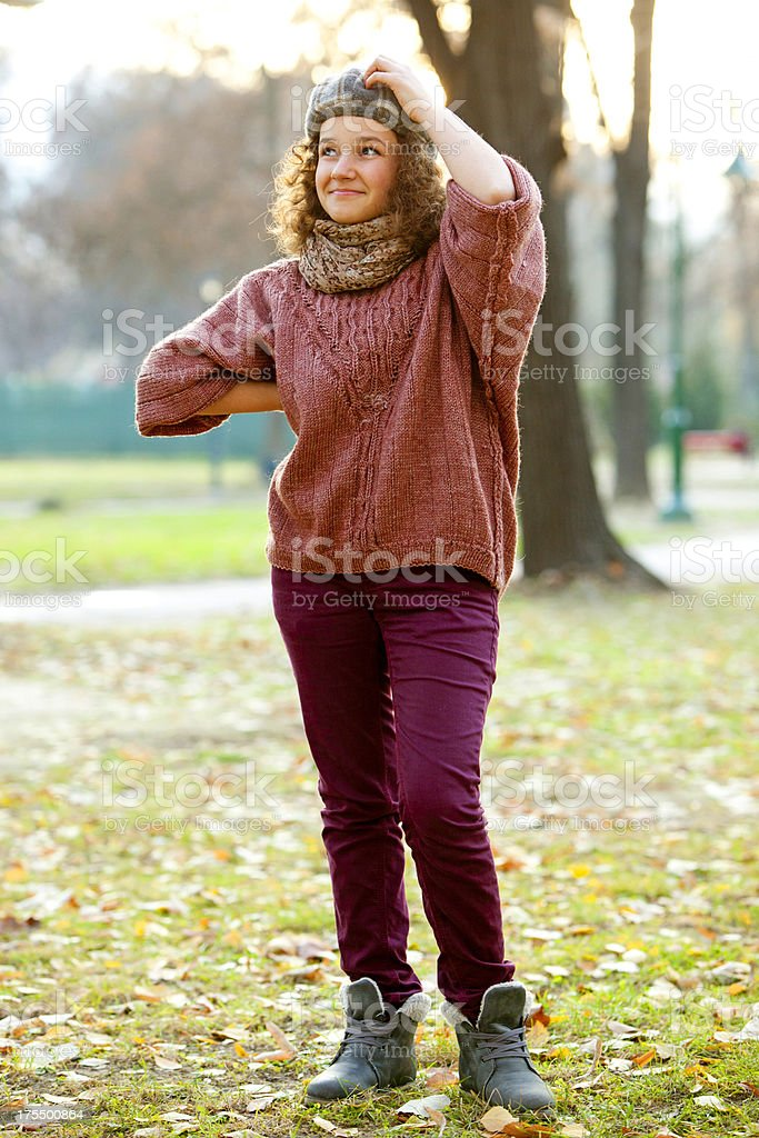 teenager thinking royalty-free stock photo