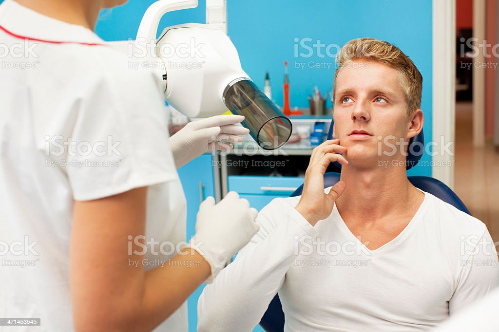 Teenager Visit Dentist Office royalty-free stock photo