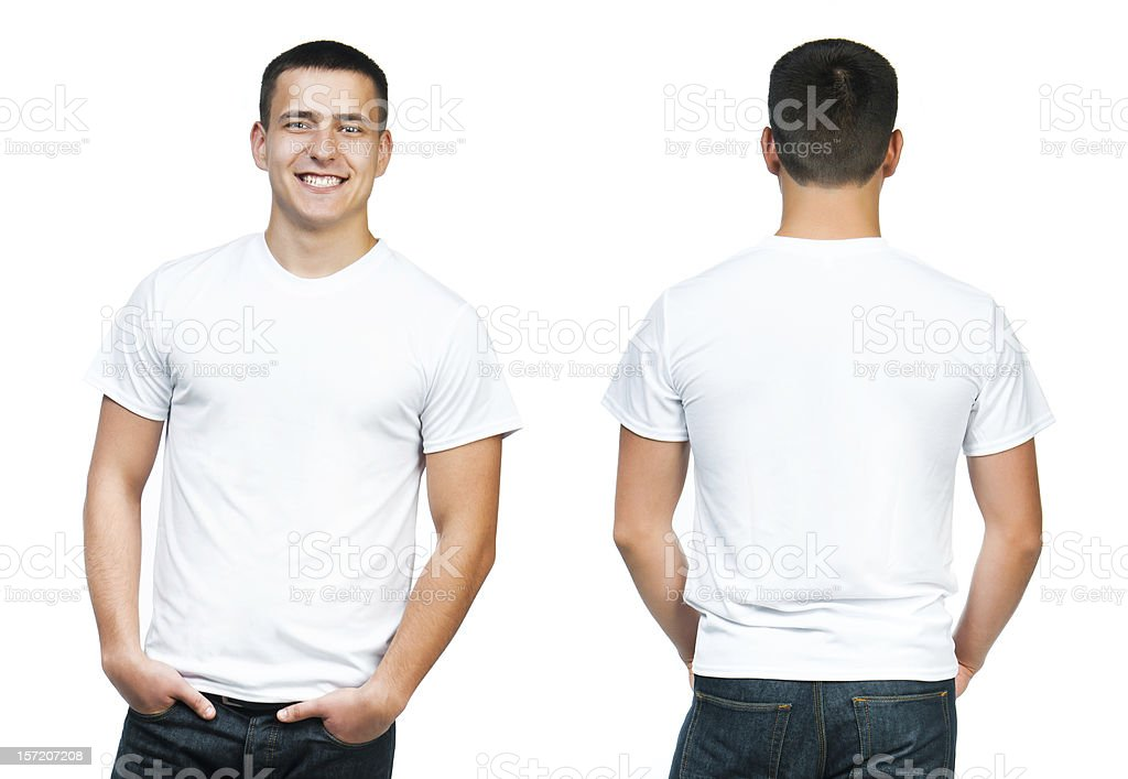 Teenager With Blank White Shirt stock photo