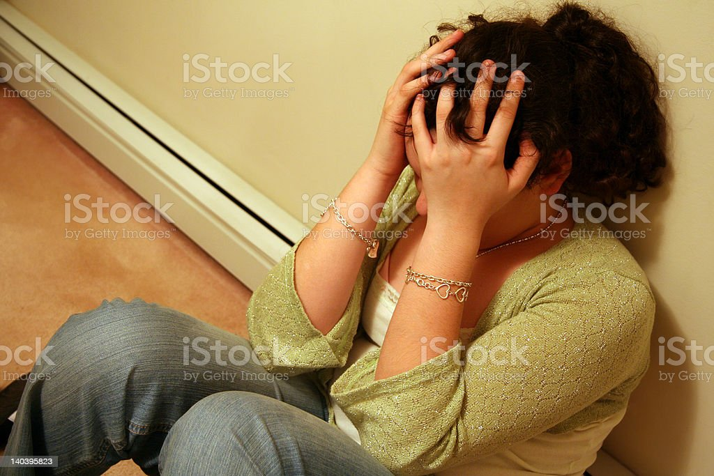Teenager with Depression royalty-free stock photo
