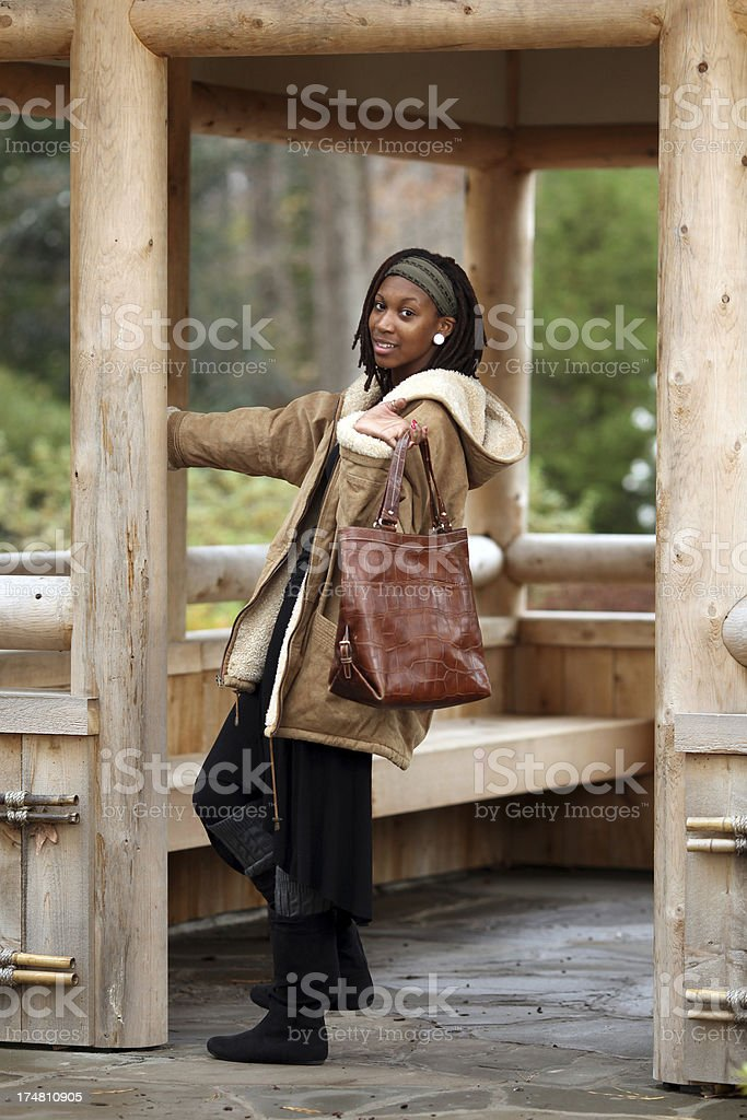 Teenager with purse royalty-free stock photo