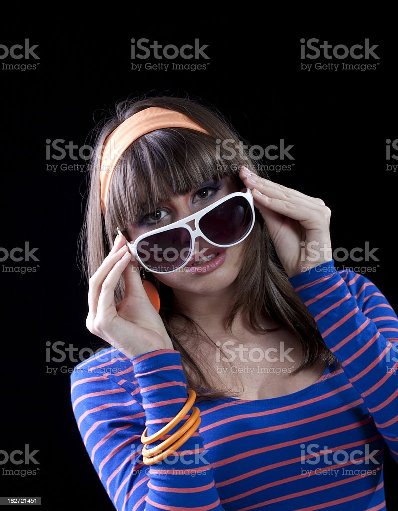 Teenager with Sunglasses royalty-free stock photo