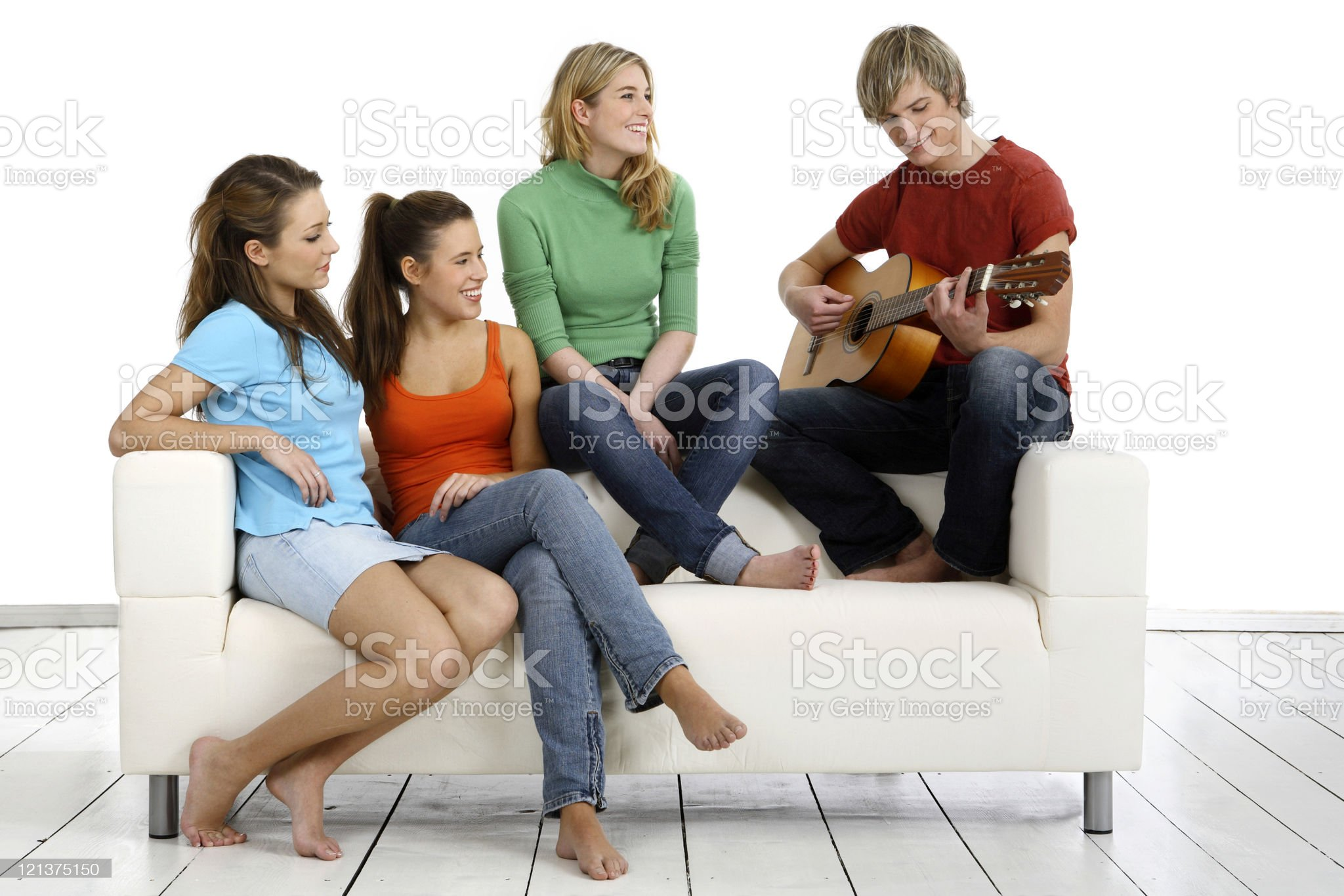 Teenagers and Music royalty-free stock photo