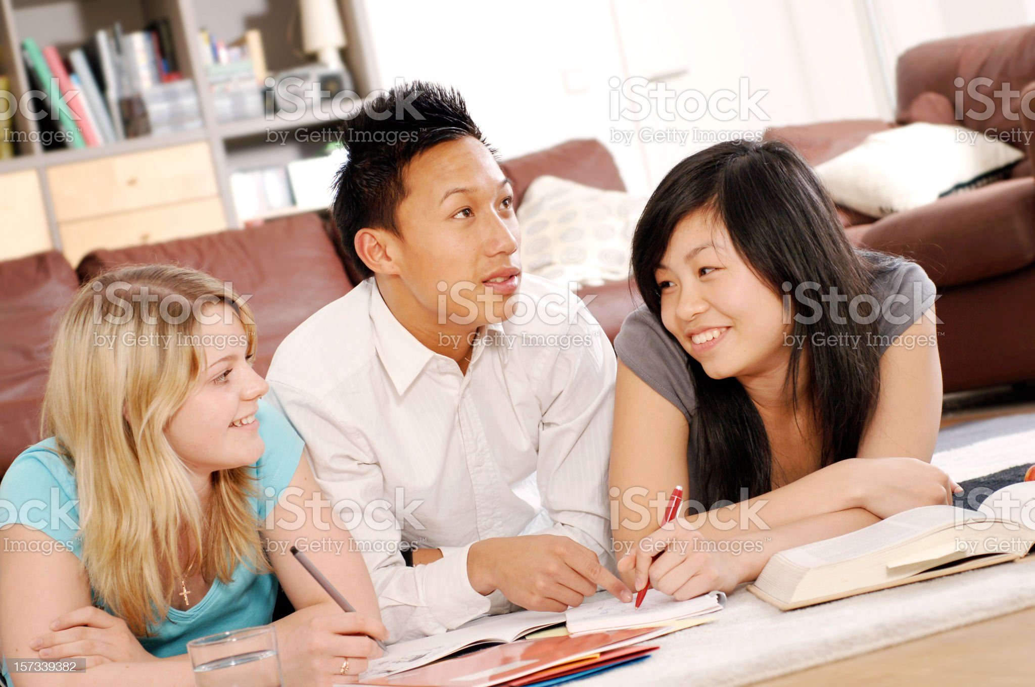 Teenagers at Home royalty-free stock photo