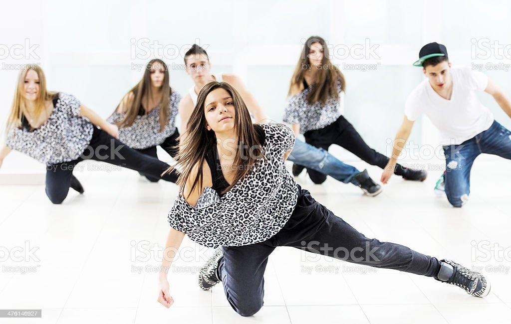 Teenagers dancing. stock photo