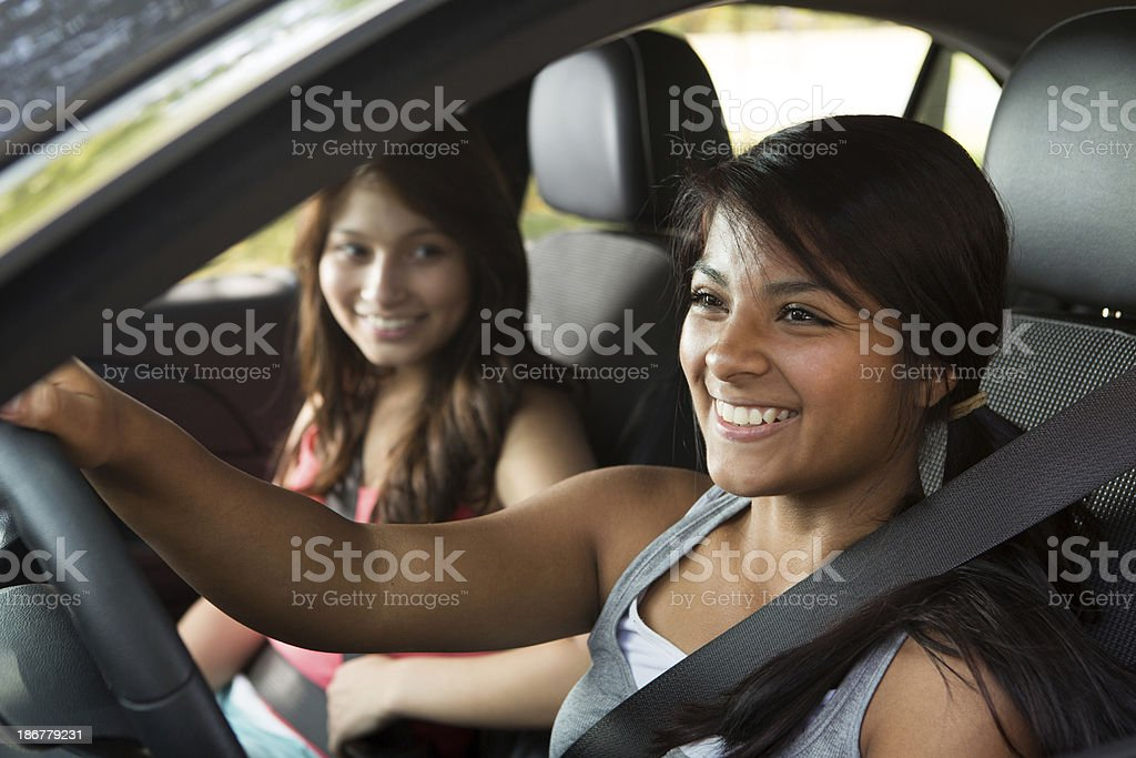 Teenagers Driving stock photo