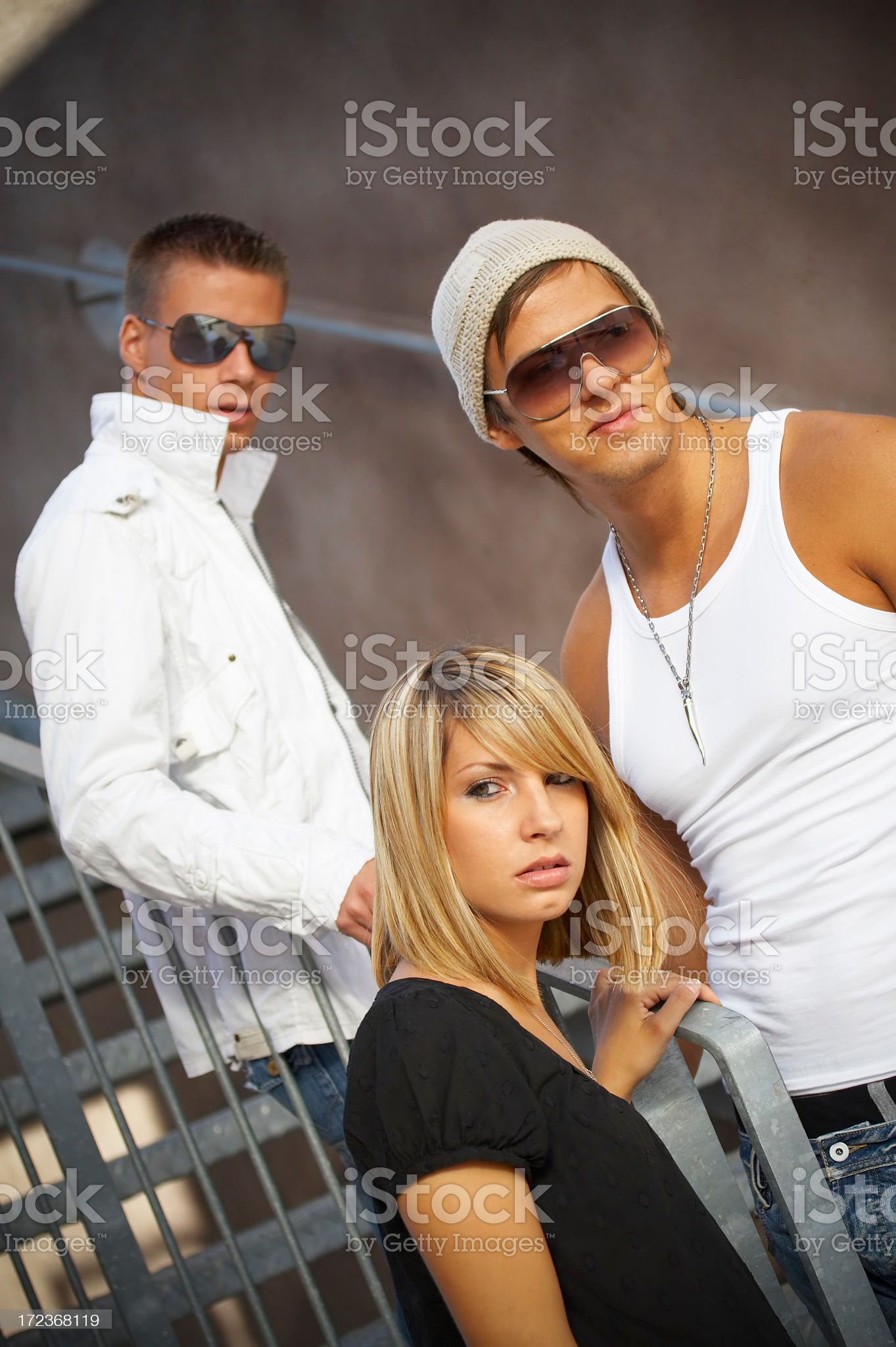 Teenagers flirting royalty-free stock photo