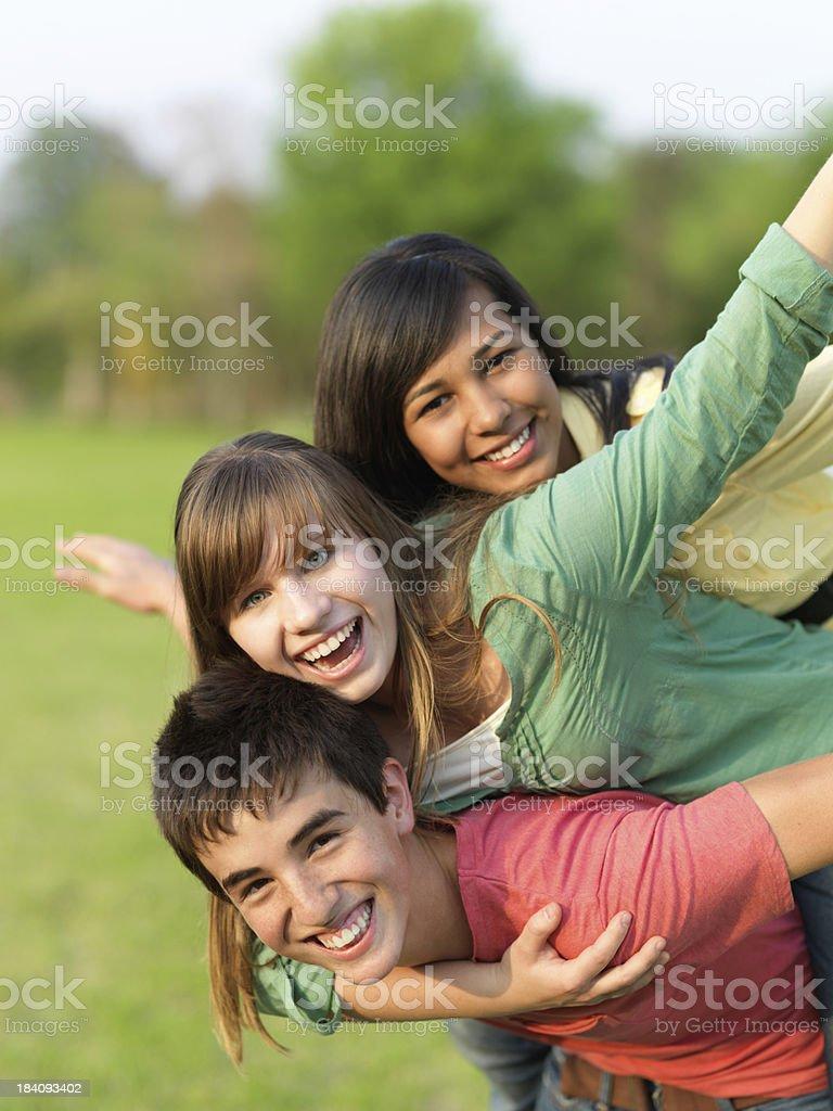 Teenagers having fun royalty-free stock photo