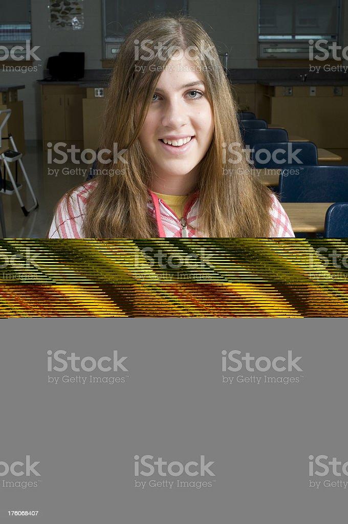 Teenagers in School stock photo