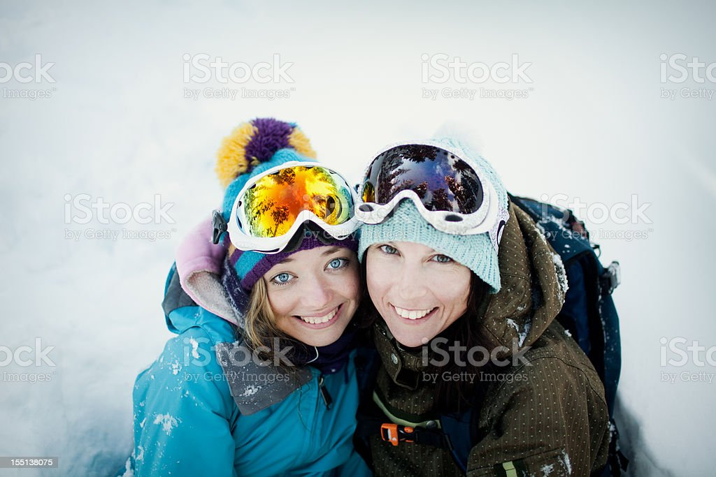 Teenagers in Snowboarding Wear royalty-free stock photo