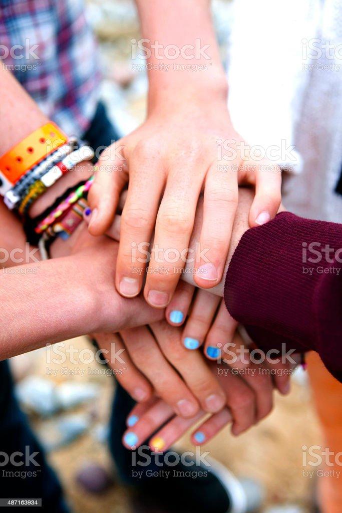 Teenagers Oath stock photo