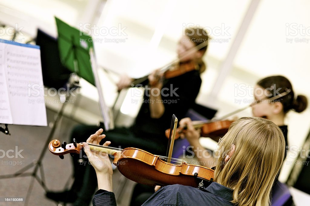Teenagers Playing On Classical School Concert royalty-free stock photo