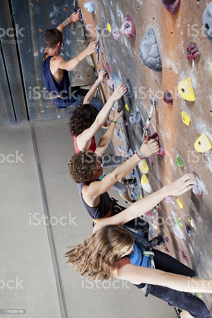 Teenagers Race to the future stock photo