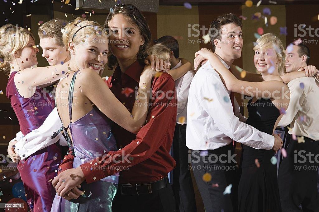 Teenagers slow dancing stock photo