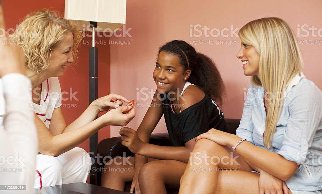 Teenagers Visit Dentist Office royalty-free stock photo