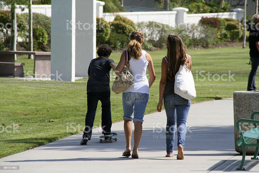 Teenagers Walking royalty-free stock photo