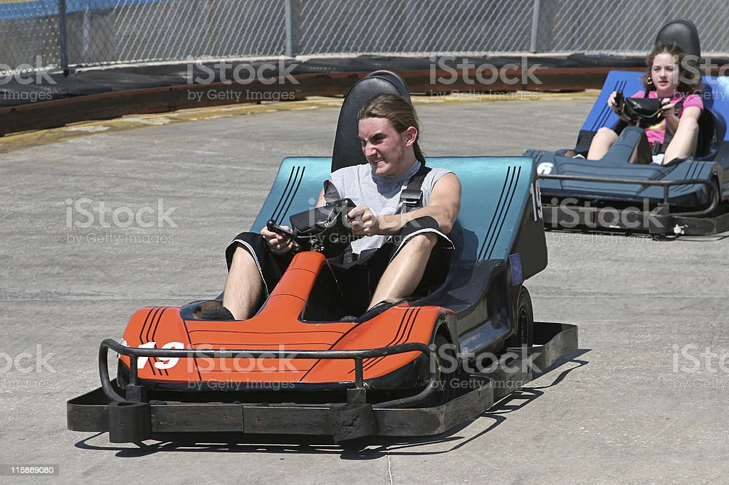 Teens At The Track royalty-free stock photo