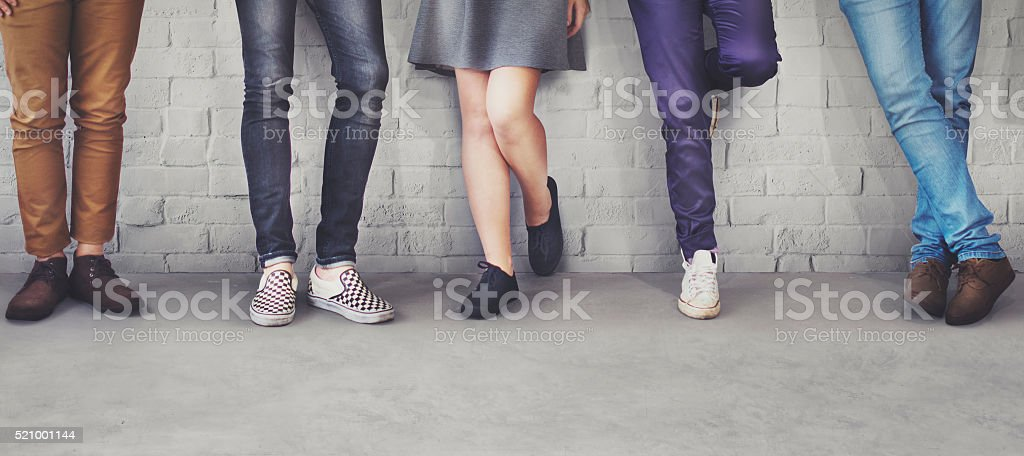 Teens Friends Hipster Fashion Trends Concept stock photo