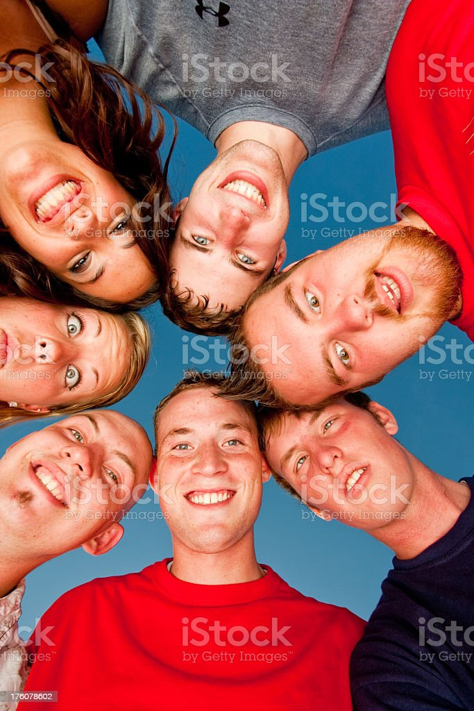 Teens in a Huddle royalty-free stock photo