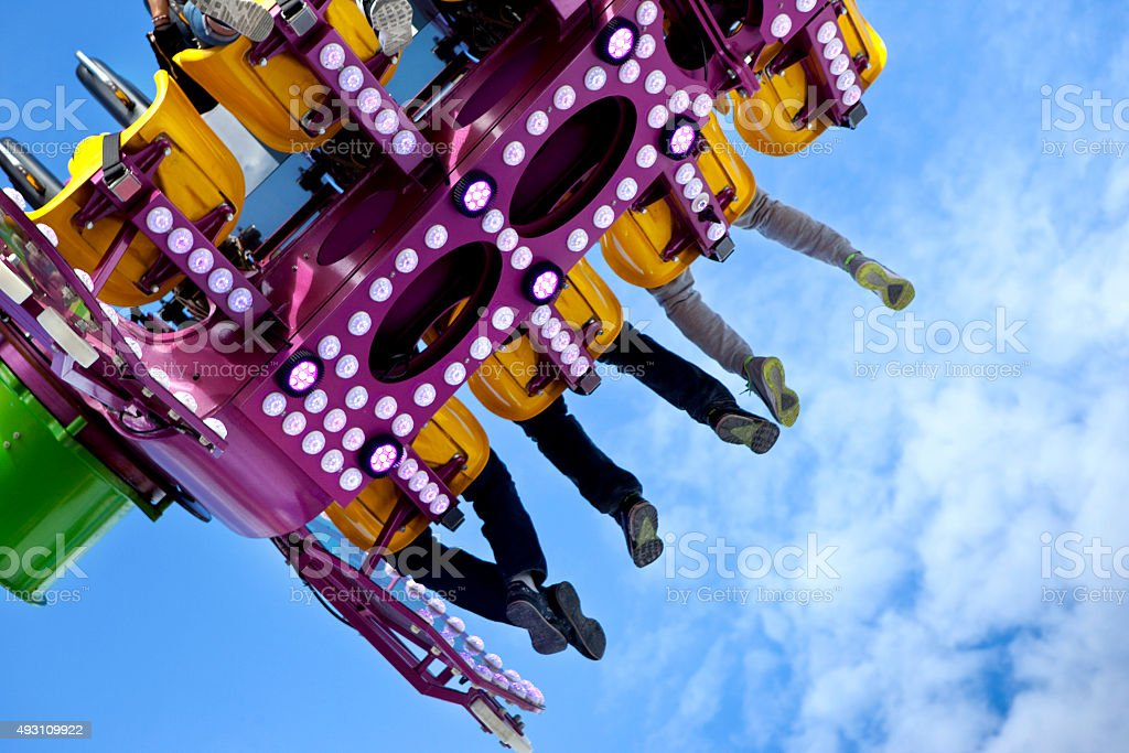 Teens in a ride stock photo