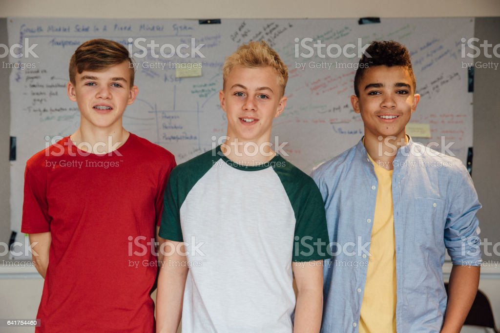 Teens In The Classroom stock photo