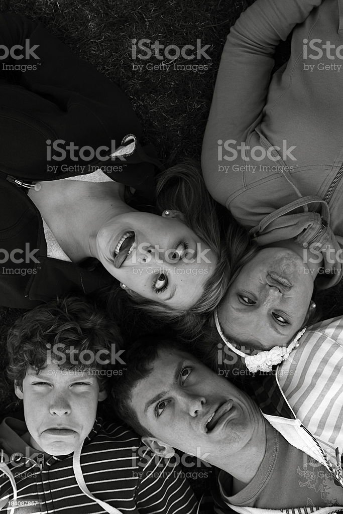Teens Making Funny Faces stock photo