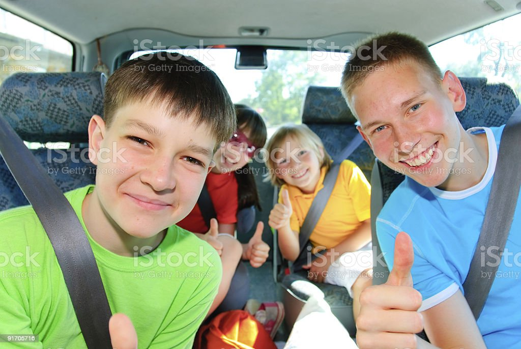 Teens traveling stock photo