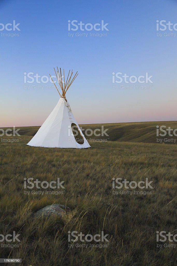 teepee on the grasslands royalty-free stock photo