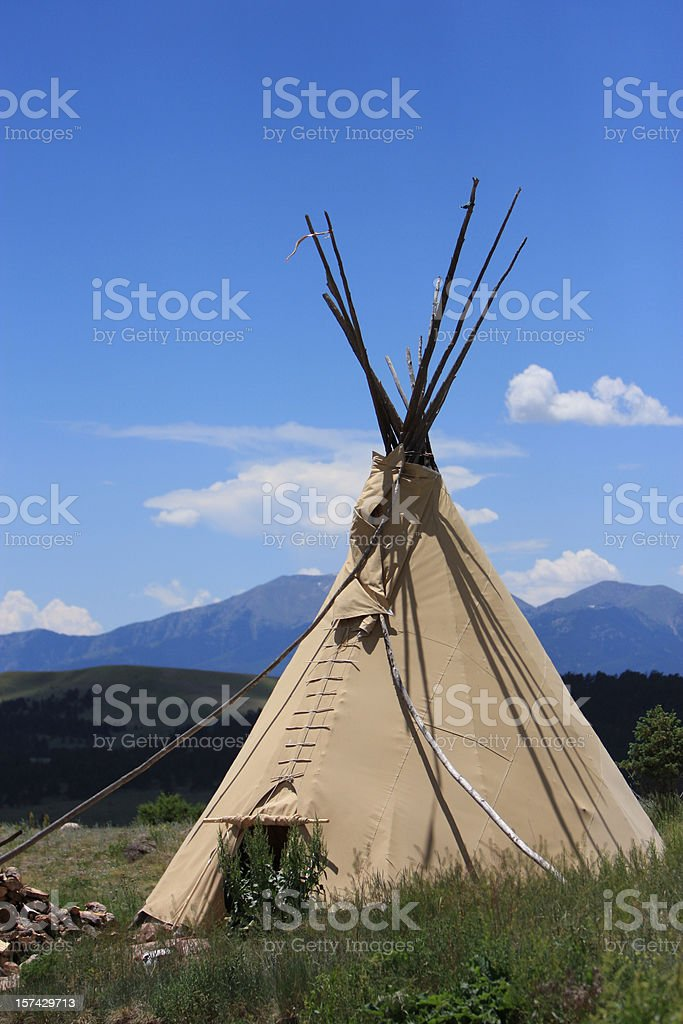 Teepee royalty-free stock photo