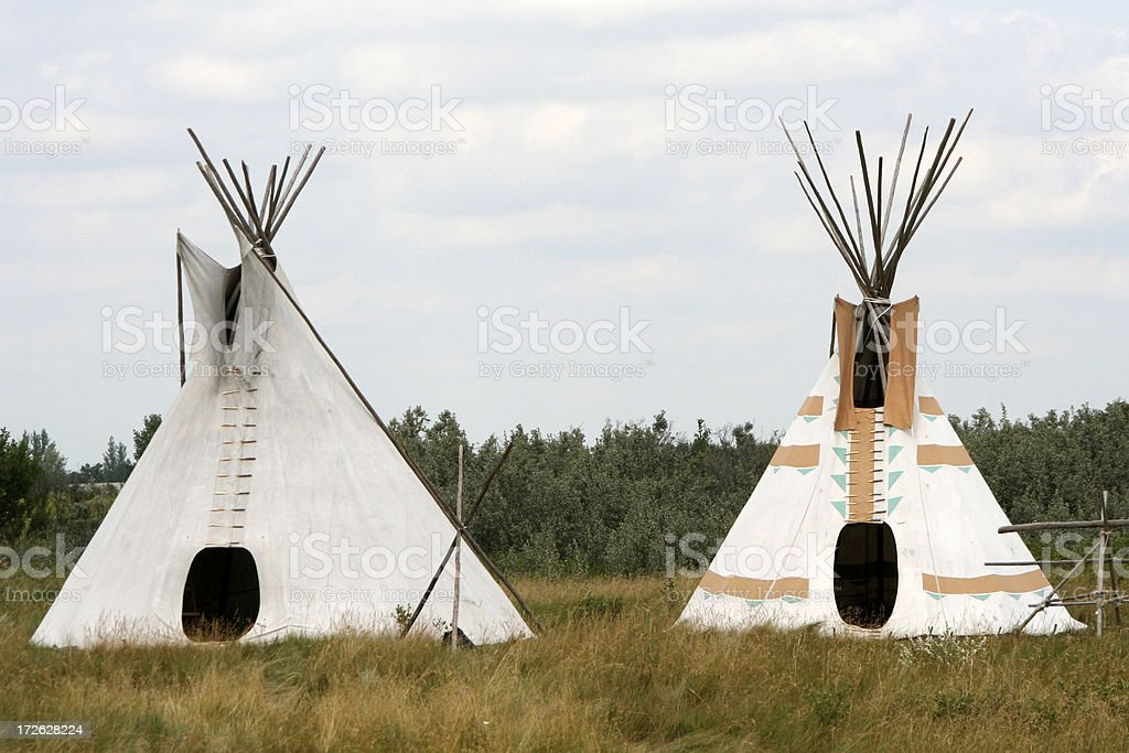 Teepees royalty-free stock photo