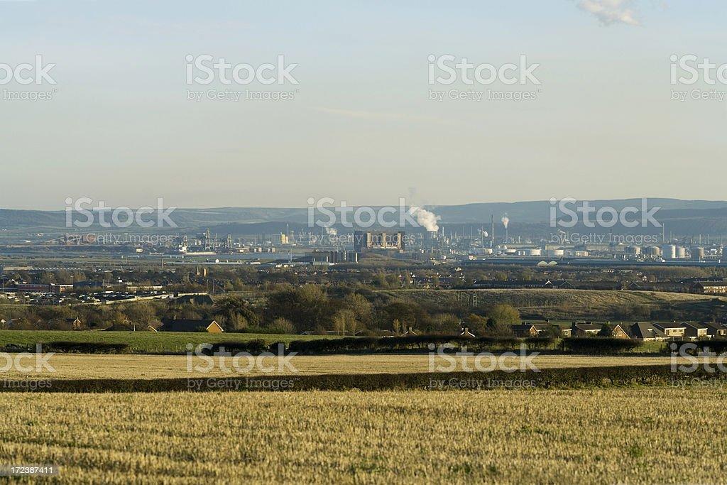 Teeside Industrial Landscape stock photo