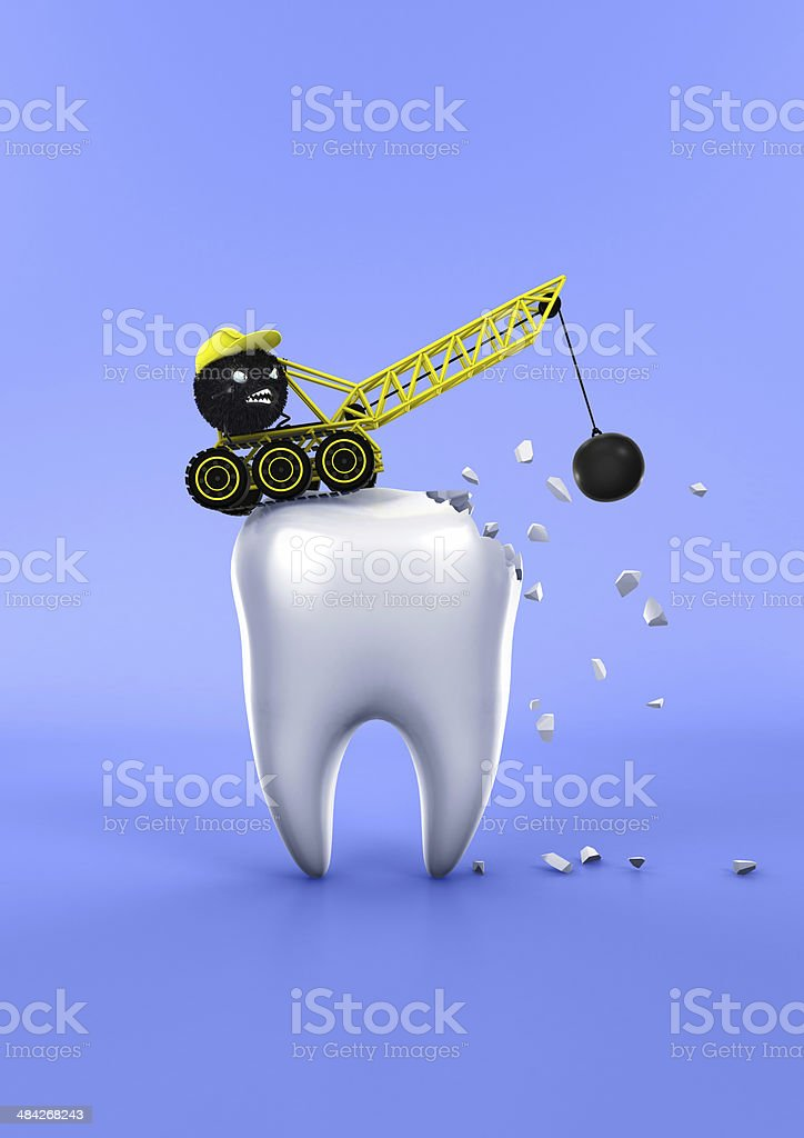 Teeth and Bacteria stock photo