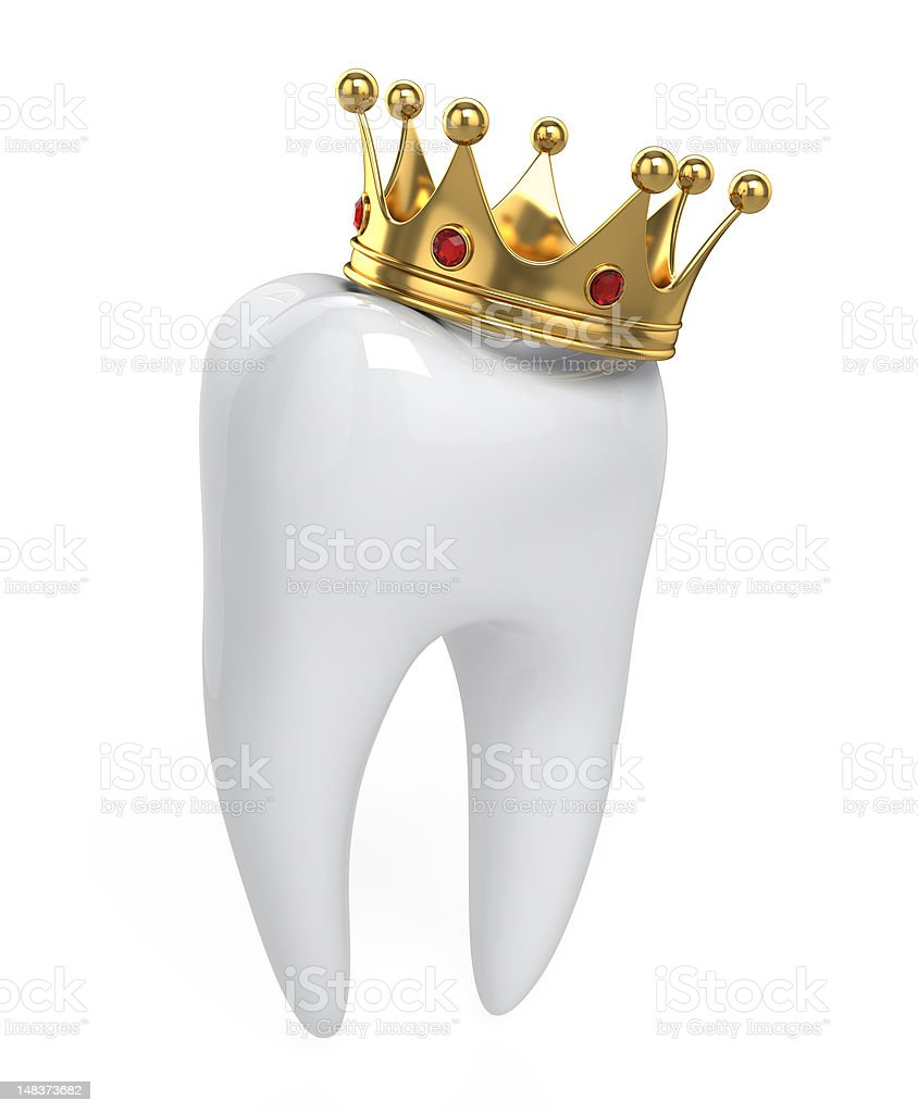 Teeth and Crown royalty-free stock photo