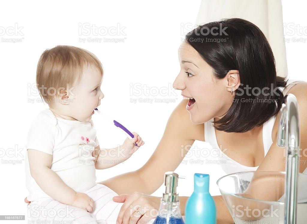 Teeth Brushing royalty-free stock photo