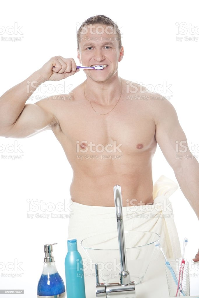 Teeth Brushing royalty-free stock photo