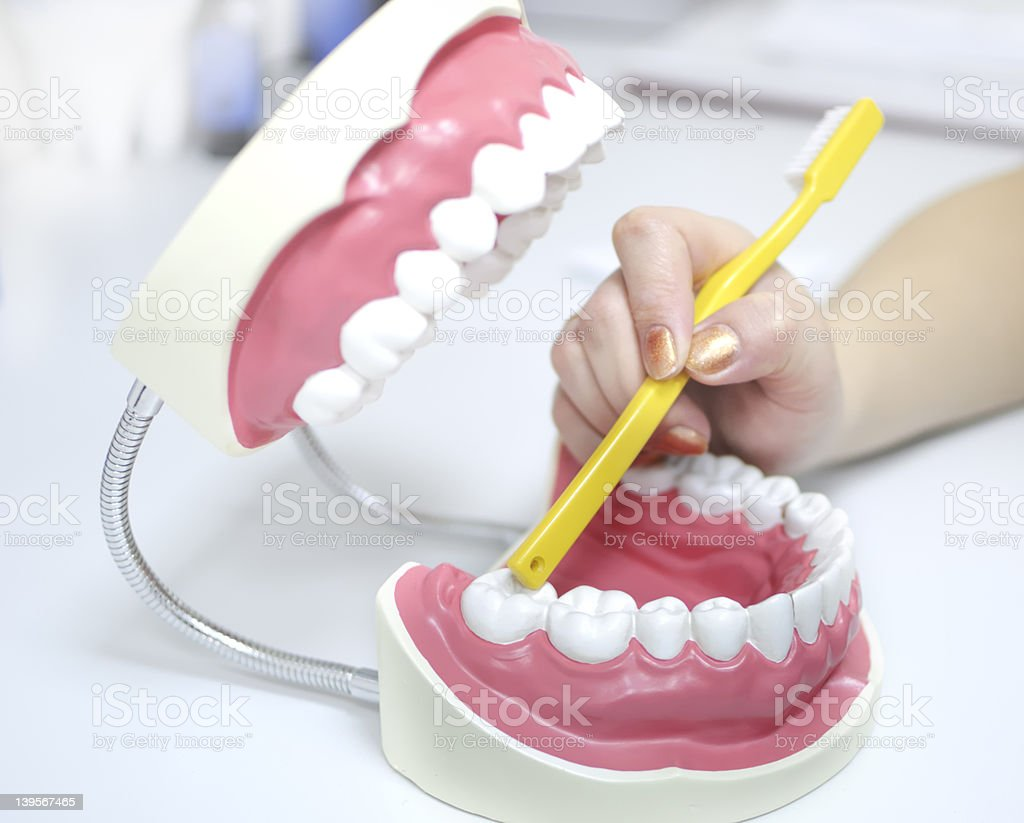 teeth care royalty-free stock photo