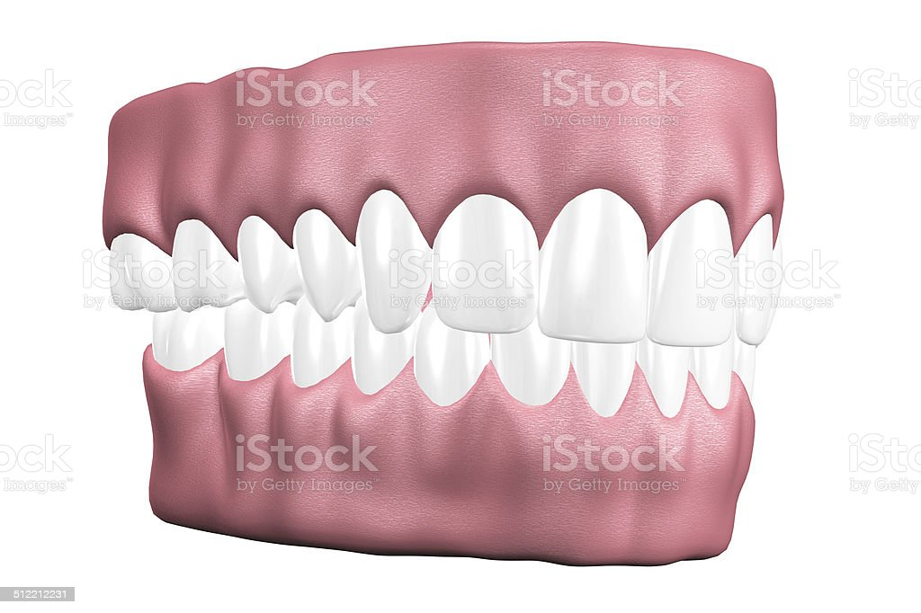 3D teeth close up. stock photo