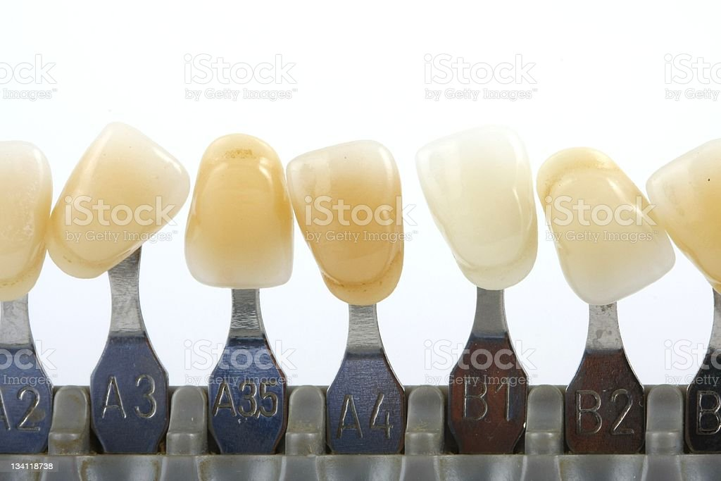 teeth color royalty-free stock photo