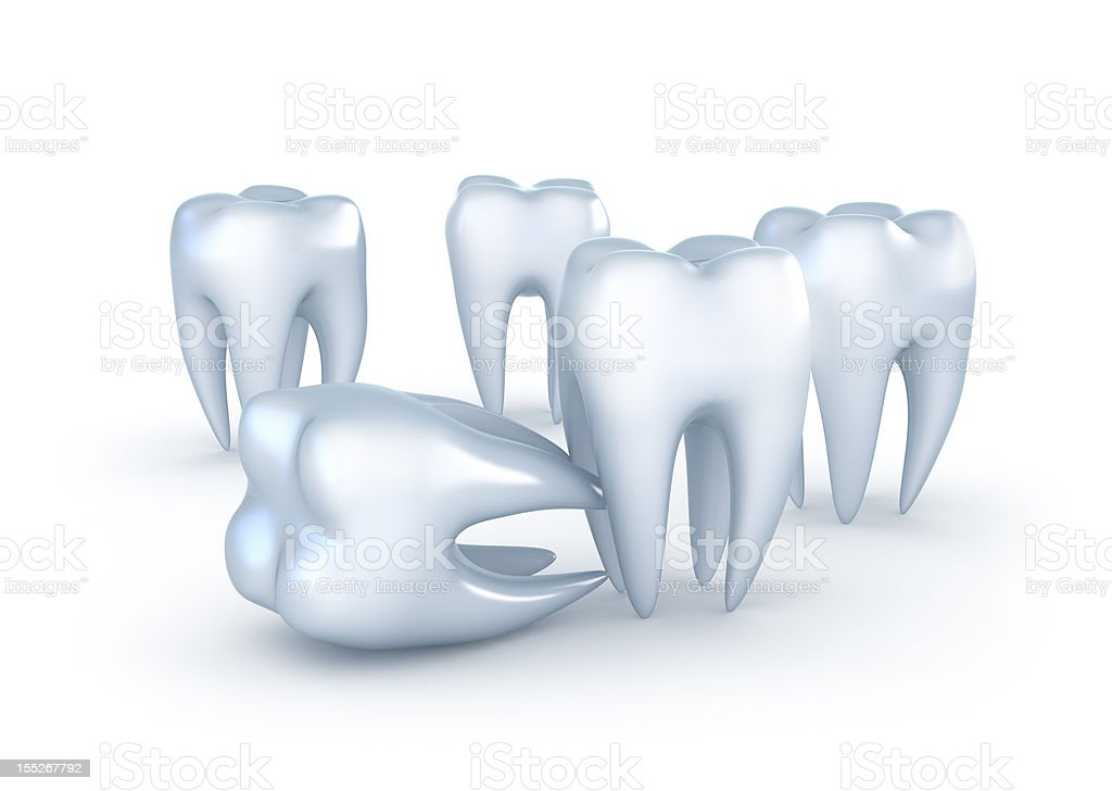 Teeth on white background royalty-free stock photo