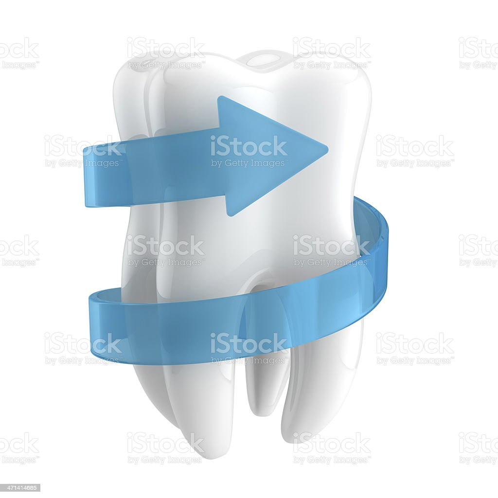 Teeth protection 3d concept stock photo