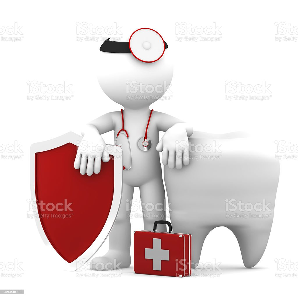 Teeth protection concept. Isolated royalty-free stock photo