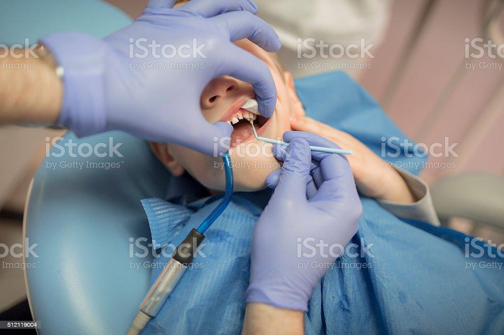 Teeth repair stock photo
