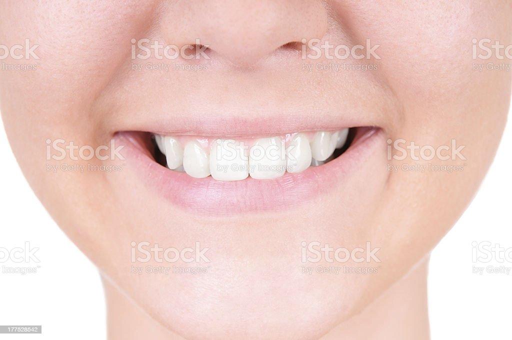 Teeth whitening. Dental care royalty-free stock photo