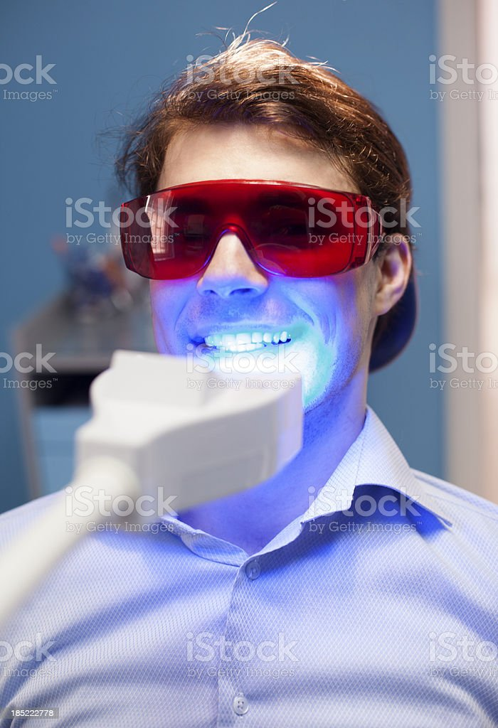 Teeth Whitening Dental Medical Process stock photo