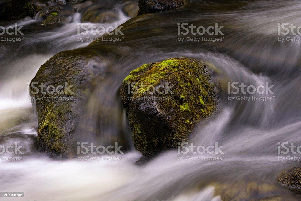 Tefafallet waterfall near Ljusnedal stock photo