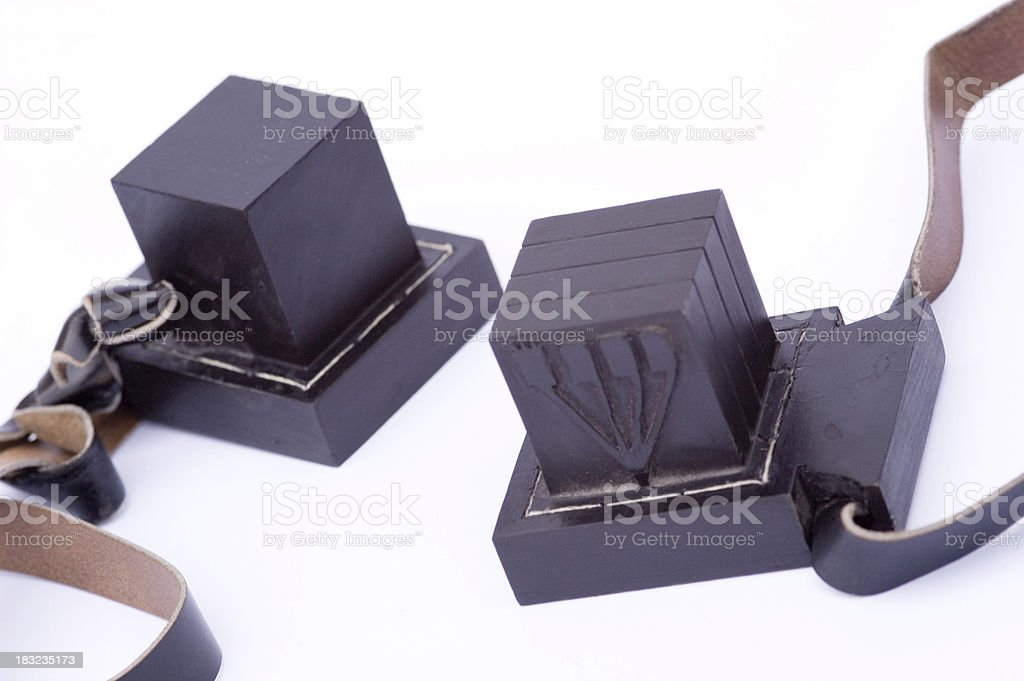 Tefillin 6 stock photo