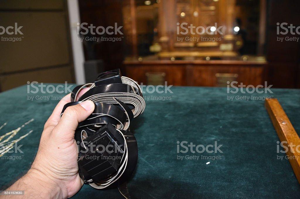 Tefillin stock photo