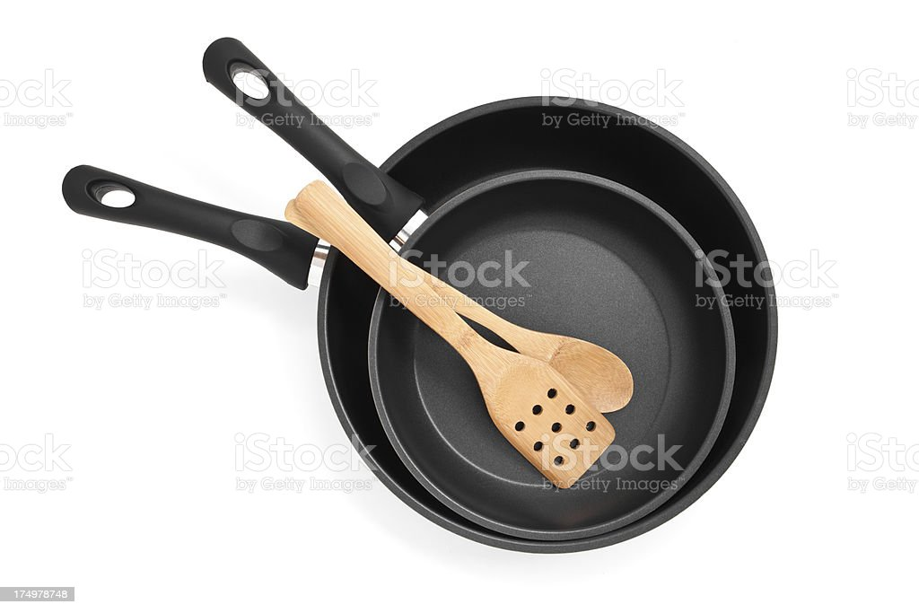 Teflon frying pan. stock photo
