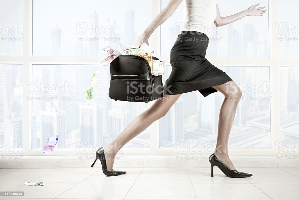 Teft of Money stock photo