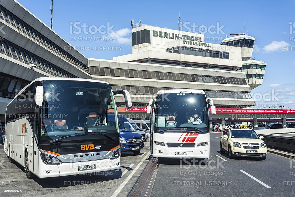 Tegel Airport Otto Lillienthal royalty-free stock photo